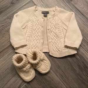 👶🏼 Baby GAP Unisex Cream Knit Sweater, 3-6M